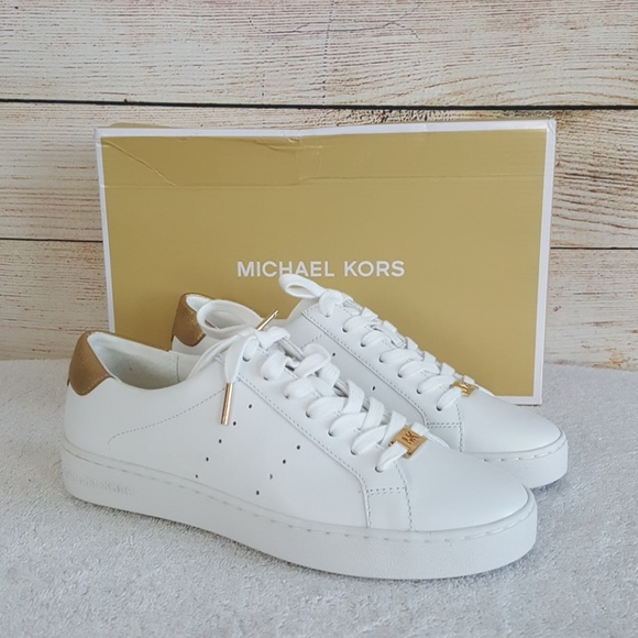 ef614174a3d3 New Michael Kors Irving Lace Up Sneakers